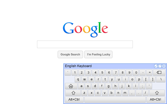 Google Chrome Virtual Keyboard