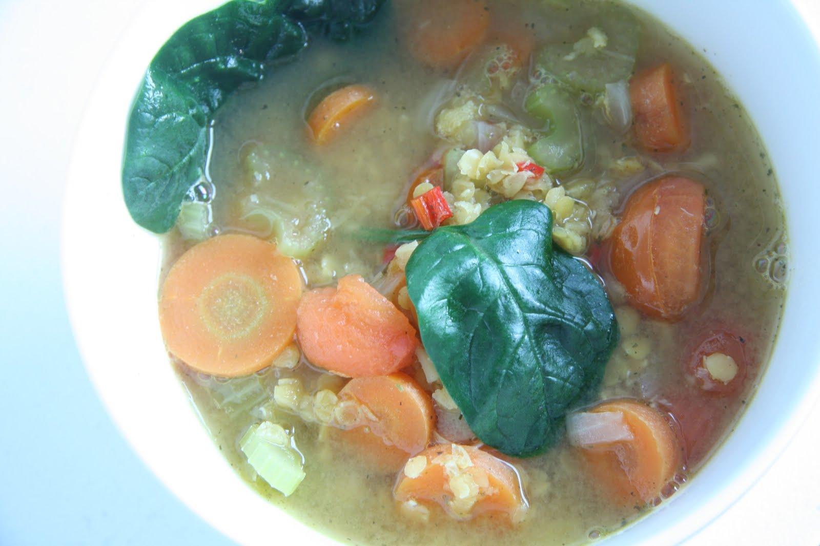 candida dieet soep recept linzen tomaten
