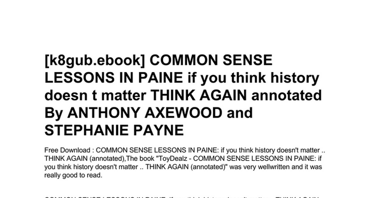 common-sense-lessons-in-paine-if-you-think-history-doesn-t