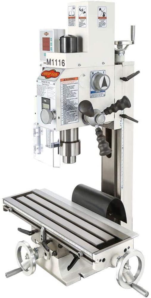 Shop Fox M1116 Variable-Speed Mill:Drill