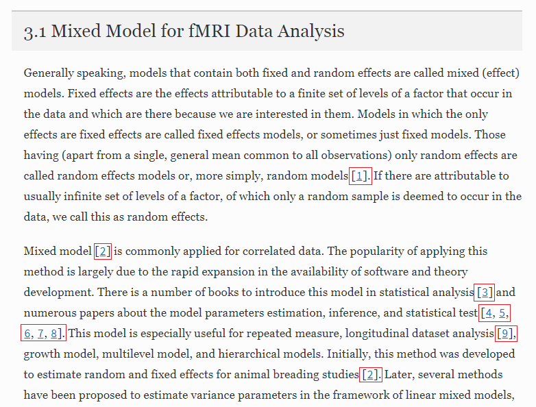 Sample of text with in-line citations highlighted