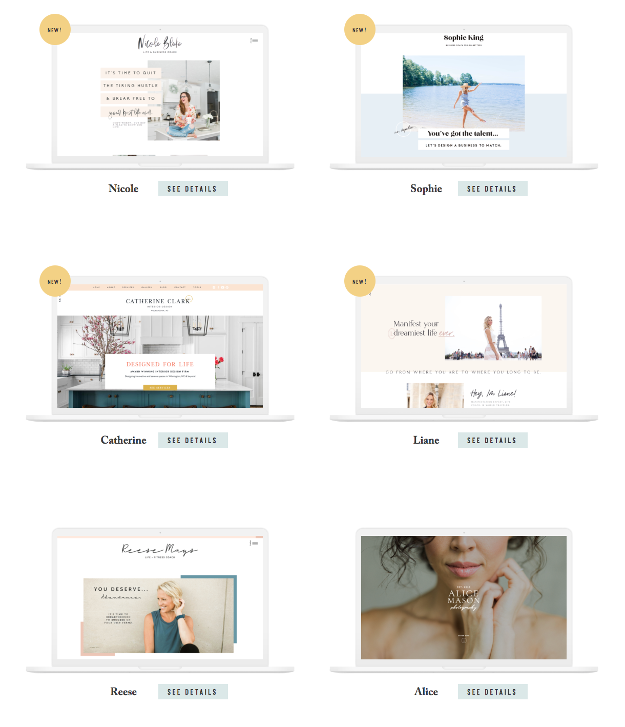 website templates in online store