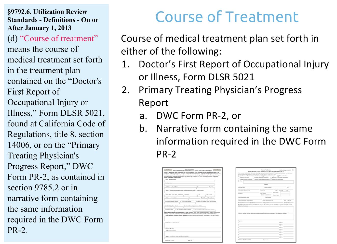 Course of Treatment RFA