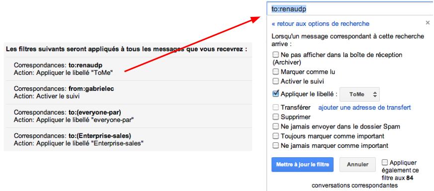 filtre messagerie collaborative
