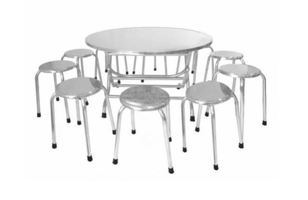 Đặc điểm của bộ bàn ghế inox tròn