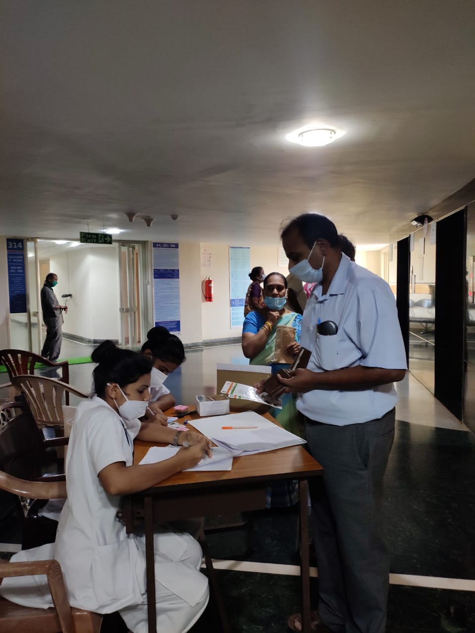Vaccination at AJ Hospital Mangalore