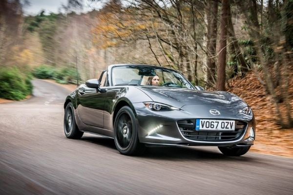 Mazda MX5 on the Road