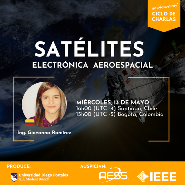"Ing. Giovanna Ramirez: ""Satélites Electrónica Aeroespacial"""