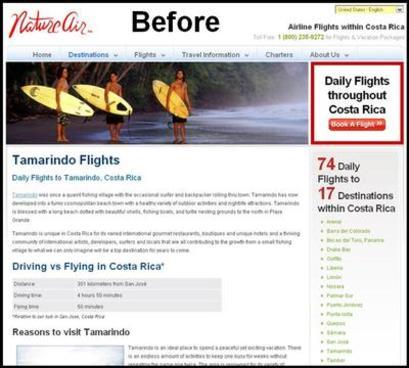 Nature Air CTA Example