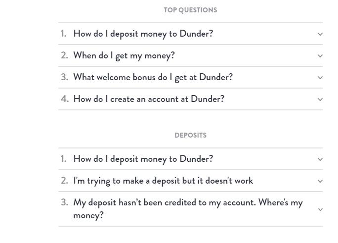Dunder Casino FAQ