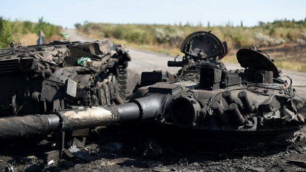 По данным военной прокуратуры, в результате боев под Иловайском погибли 366 бойцов. GETTY IMAGES