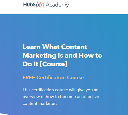 Content Marketing by Hubspot