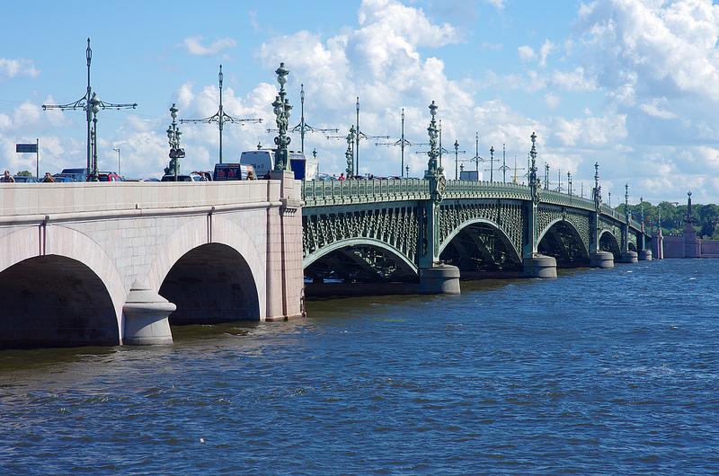 Троицкий мост, Санкт-Петербург, Россия