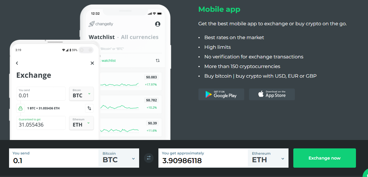 changelly mobile app