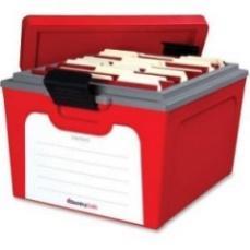 Sentry Safe GB20L: Guardian Storage Box, 1.04 Ft3, 15 4/5w x 19 1/2d x 12 3/5h, Red