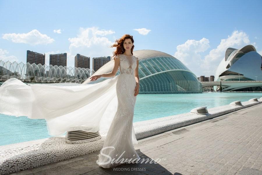 Весільна сукня годе зі знімним шлейфом
