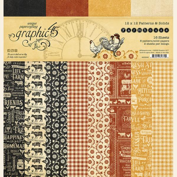 Farmhouse 12x12 Patterns & Solid Pad