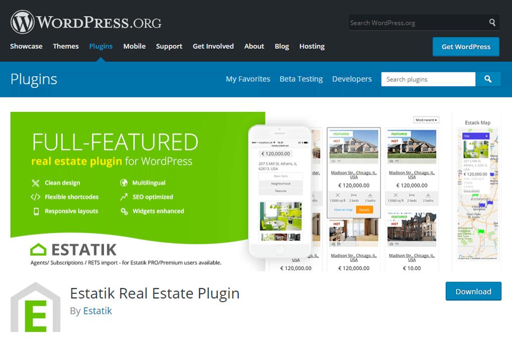 plugin para imobiliária estatik para wordpress