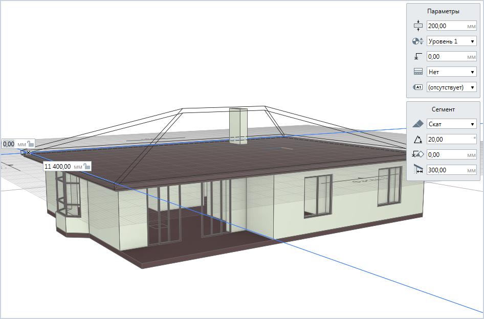 Построение вальмовой крыши
