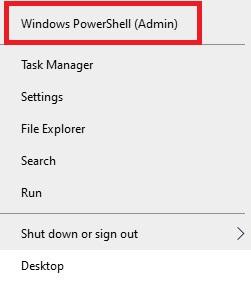 Windows PowerShell (Admin)