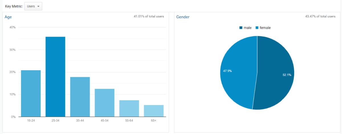Demographic data in Google Analytics
