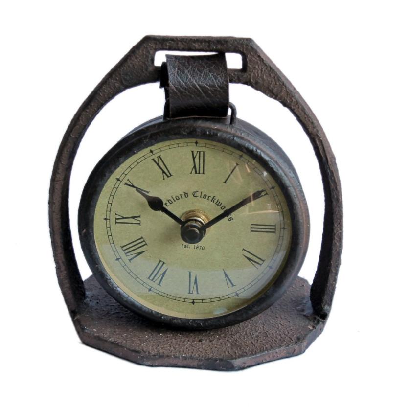 vintage horse stirrup clock