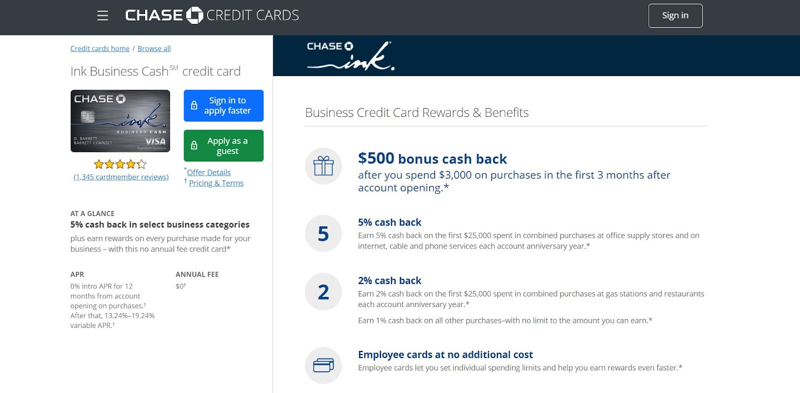 Chase Ink Business Cash Credit Card: The Top 10 Business Credit Cards for Small Businesses