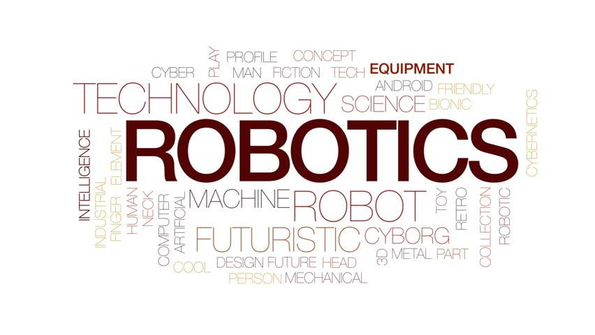 Robotics Animated Word Cloud, Text Stock Footage Video (100 ...