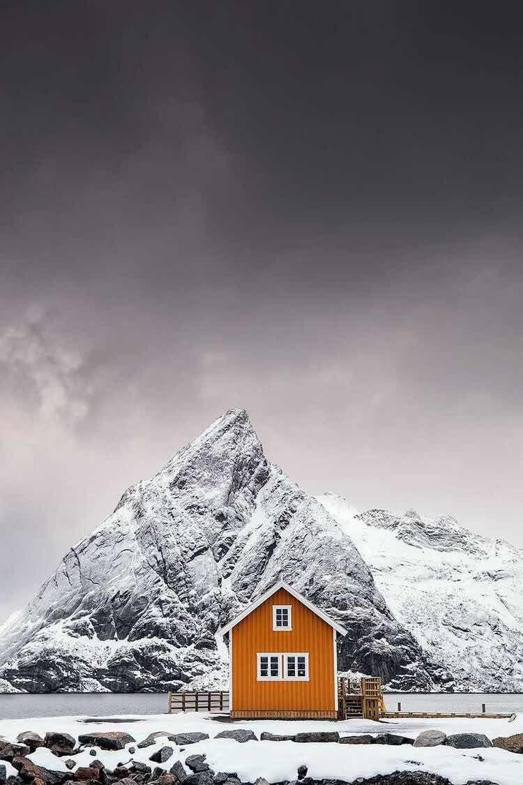 Iphone And Android Wallpapers Winter Cabin Wallpaper For Iphone And Android