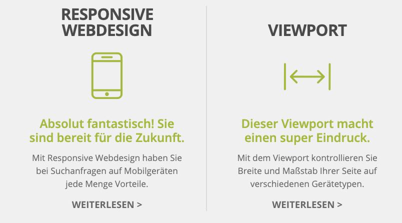 Responsive Webdesign und Viewport