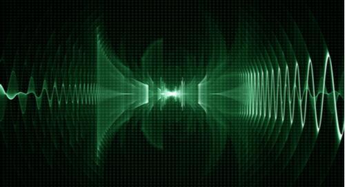 Sound wave on oscilloscope