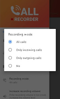 Hidden audio recording program for Android