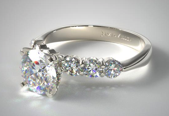 Common Prong Six Round Diamond Ring from James Allen