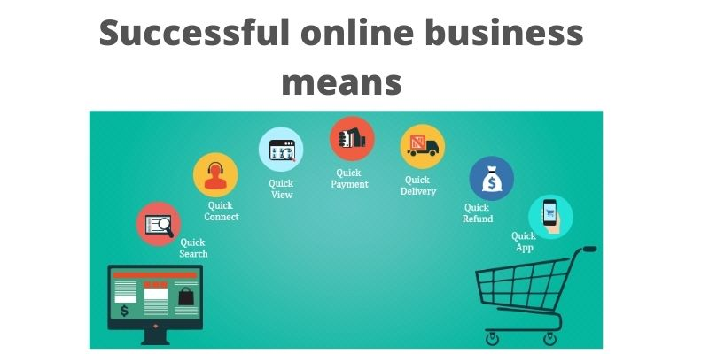 Successful online business chart
