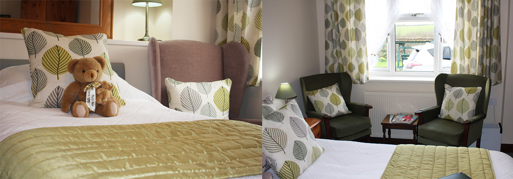 Stay in the Woodpecker room at West Down Guest House for a lovely holiday in Devon.