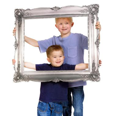 Large picture frame prop for photo booth