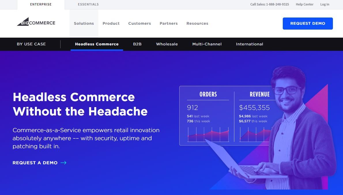Building an online shop on BigCommerce.