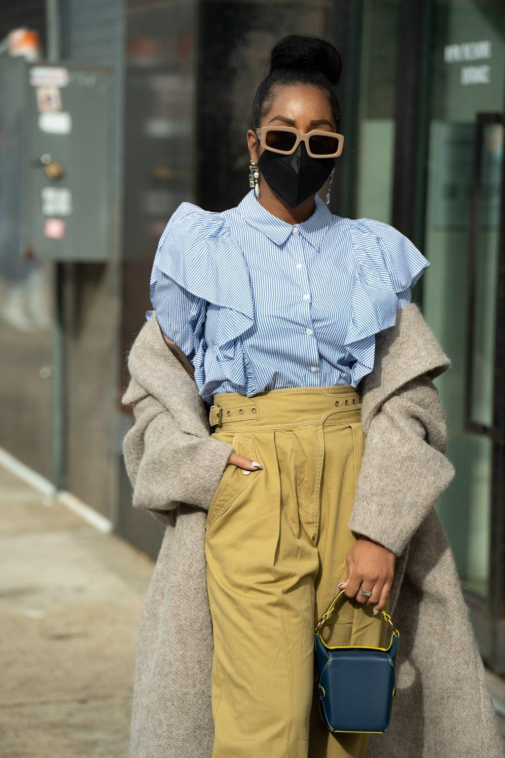 10 Street Style Outfits With Face Masks at Fashion Week   POPSUGAR Fashion