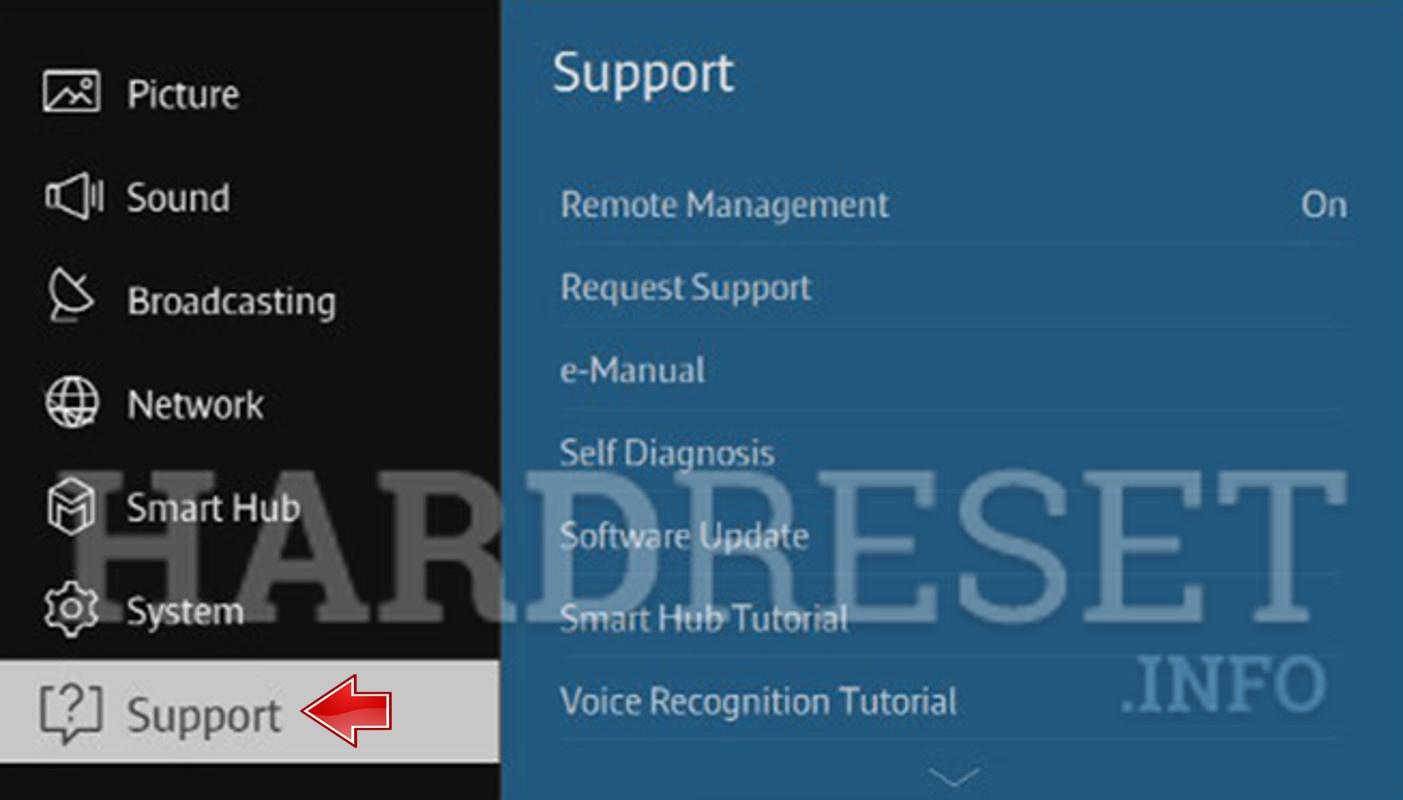 Hard Reset SAMSUNG Smart TV