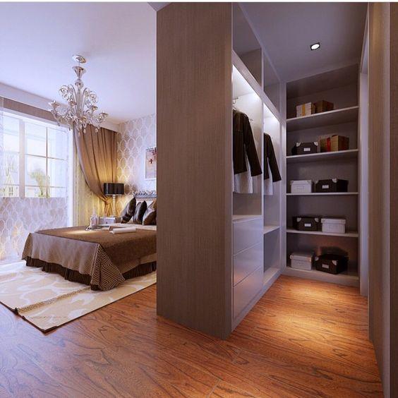 Khám phá những cách bố trí phòng thay đồ đẹp trong phòng ngủ