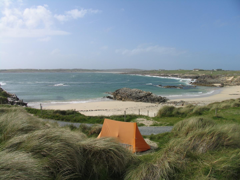 Where to go camping tent Irish coast