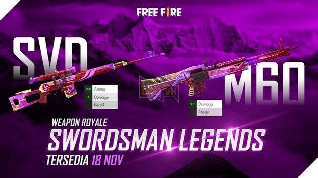 Free Fire: How to get exclusive SVD Swordsman Legends Skin? 2