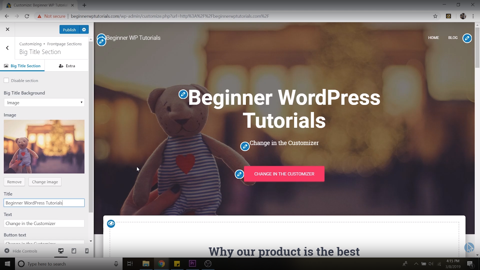 new homepage title wordpress tutorial for beginners
