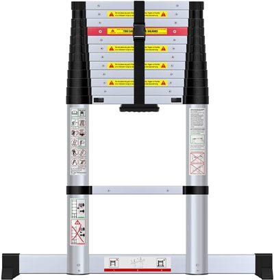 WolfWise 12.5FT Aluminum Telescoping Ladder