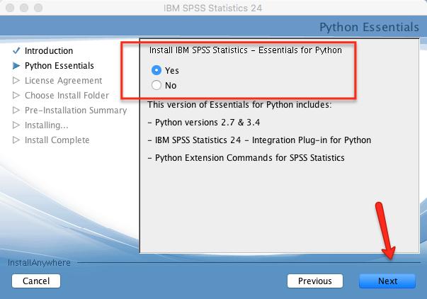 Mac SPSS Install Python