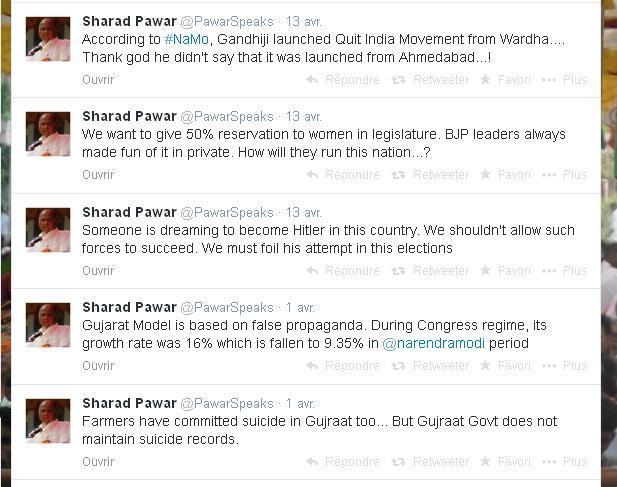 Sharad Pawar Twitter Account