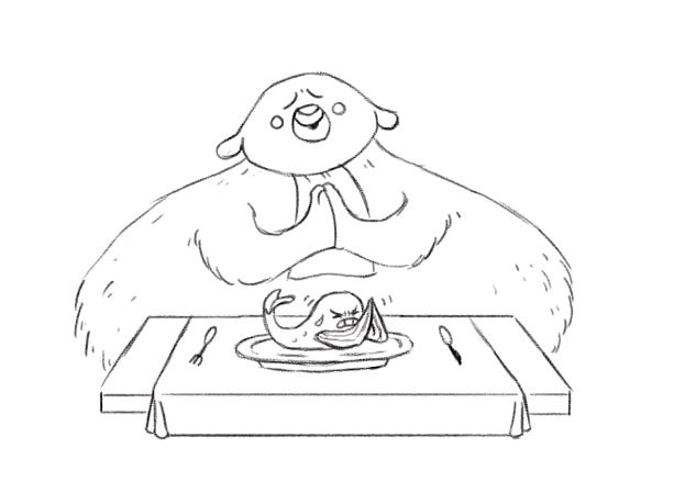 animal eating