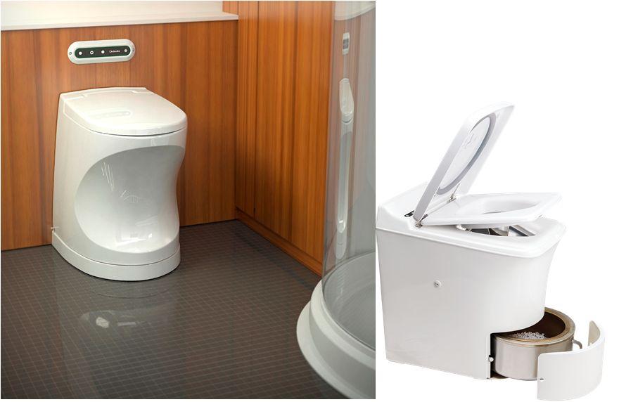 WC que no utiliza agua ni líquido químico