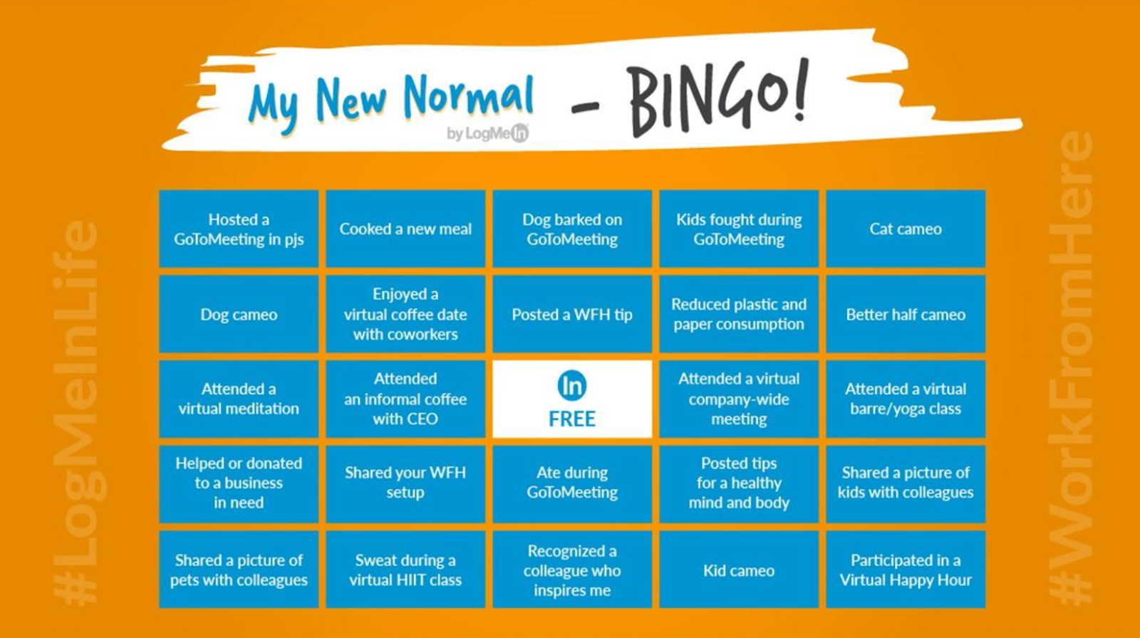 how to work from home with LogMeIn's bingo game