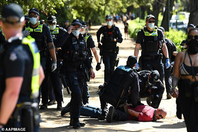 Acting sergeant Mitchell said she had watched the relationship deteriorate between the community and police officers while Melbourne was stuck in the longest and toughest lockdown in the world
